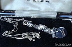 Modern kézműves ezüst medál lápisszal