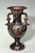 Török László art deco kerámia váza 24 cm Mezőtúr