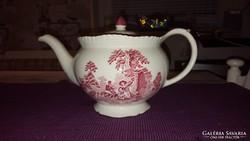 Antik angol porcelán teáskanna -Woods Burslem