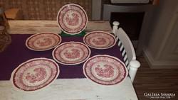 Antik angol porcelán süteményes tányérok -Woods Burslem