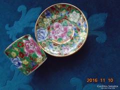 """Dombor mázas,kézzel festett """"1000 virág""""- mintás kínai kávés készlet-(4)"""