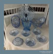 Csodás kék üveg gyűjtemény