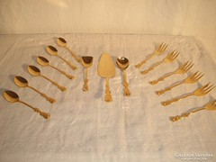 Aranyozott TELJES sütis készlet  16 darab  24 karátos arannyal futtatott.