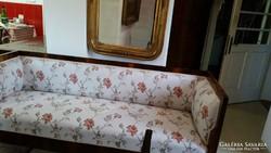 Biedermeier kanapé  / szofa 1820 körül vastag dió funérral