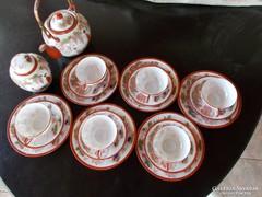 Régi Japan vekony porcelan tea-káve keszlét