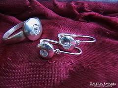 Felnőtt ezüst button szett