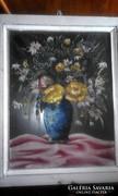 Csendélet üvegre festve 1960