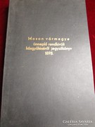 MOSON VÁRMEGYE KÉZZEL IRT 1898 ÜNNEPLŐ KÖZGYÜLÉS JEGYZŐKÖNYV