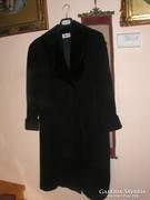 Fekete téli szövet kabát
