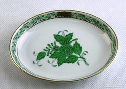 0J378 Zöld Apponyi mintás herendi porcelán hamutál
