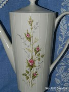 ZEH-gyönyörű rózsás porcelán teás kiöntő, kanna