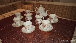 Angol porcelán teáskészlet 6 személyre- Ritkaság!!!