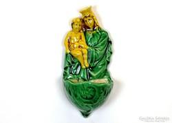 0J081 Mária gyermekével kerámia szenteltvíztartó
