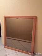 Nagyméretű fakeretes tükör