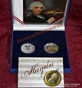 Haydn - ezüst emlékérme szett CD-vel, leírással
