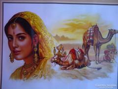 Indiai festményről készült reprodukció 2.