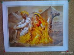 Indiai festményről készült reprodukció 3.