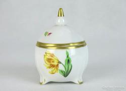0J439 Régi Herendi porcelán bonbonier KITTY