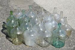 0I946 Régi boros demizson üveg palack 18 db 5 L
