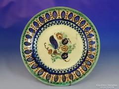 0J139 Mónus Sándor kerámia falitál 29.5 cm