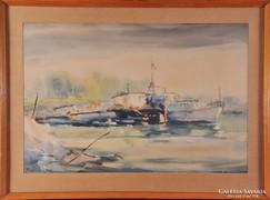 Piroska János (1894-1987): Kikötő