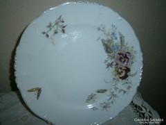 Szecessziós kézi festett árvácska mintás  tányér 25 cm