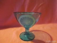 Leonárdö festett érdekes  üveg kehely  Á013