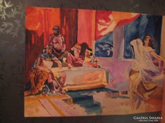 Afrikai témájú  akvarell