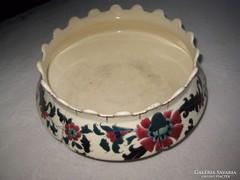 Porcelán fajansz   tál 26 cm, jelzett