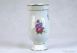 0J324 Hollóházi porcelán váza díszváza 17.5 cm