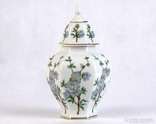 0J331 Hollóházi porcelán urnaváza 14 cm