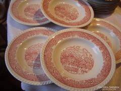 Pink francia mély tányér 5 darab