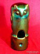 Zsolnay eozin bagoly figura, antik darab