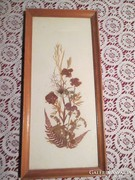 KÉP1 Virágcsendélet szárított virágból 22x14,5 cm