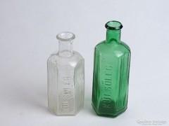 0J496 Régi KÜLSŐLEG patika üveg párban