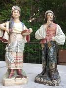 Ritka antik porcelán figura pár szép állapot