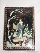 Orosz festett jelzett lakkdoboz
