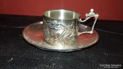 Ezüst szecessziós csésze aljjal