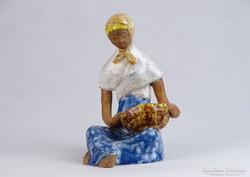 0J541 Jelzett Bely Z. kerámia figura 15 cm