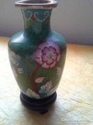 Antik, Kínai rekeszzománc váza + talp