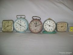 Öt darab régi csörgőóra gyűjteményből - nem működnek 510e8dd770