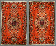0K175 Két darab egyforma piros szőnyeg 100 x 160cm