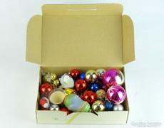 0K266 Régi üveg karácsonyfa dísz csomag