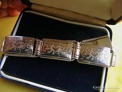 Szecessziós ezüst karkötőm