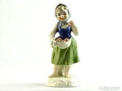 0K420 Jelzett GOEBEL porcelán kislány szobor 13 cm
