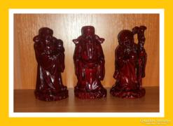 Három bölcs szerencsehozó szobor