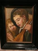 Különleges olaj-vászon festmény Bieder keretben eladó 47*37c
