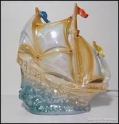 Retro irizáló mázas porcelán vitorlás lámpa , hangulatlámpa