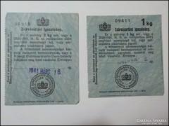 Zsírvásárlási igazolvány 1941