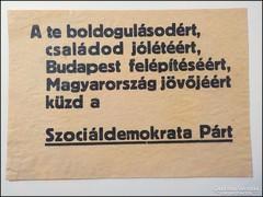 Szociáldemokrata Párt - boldogulásodért , családod jólétéért